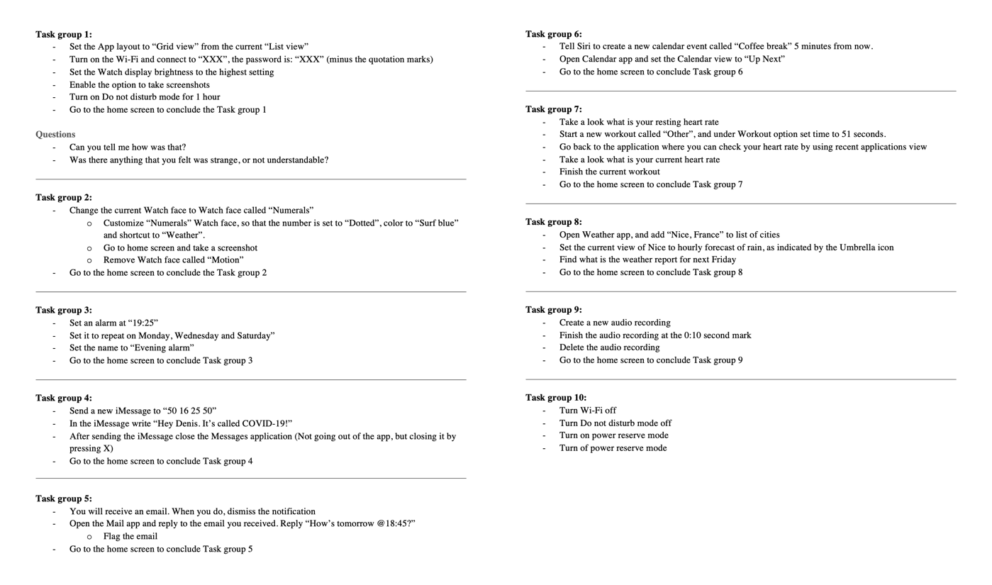 Master Thesis - Task Groups